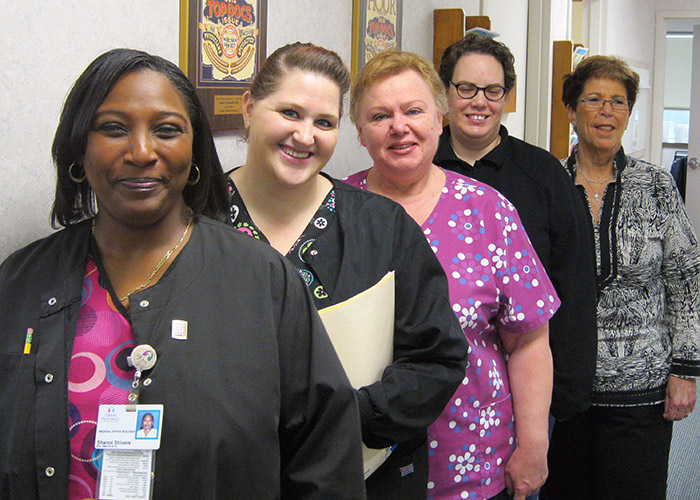 Our friendly Providence Colorectal staff.